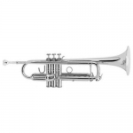 Courtois 333L Trumpet in silver plate (large bore)