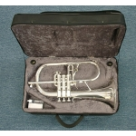 Courtois 154 Flugel Horn in Silver Plate