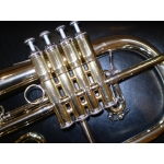 Courtois 4 valve Flugel Horn with a Gold Brass Bell