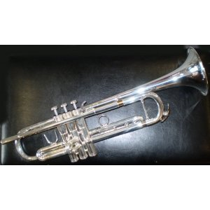 Courtois 334L Trumpet (large bore - reverse lead-pipe) in silver plate