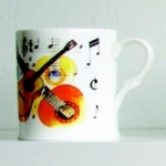 Bone China Mug Classical Guitar Design