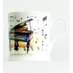 Bone China Mug Piano Design