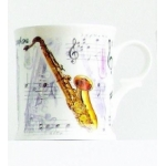 Bone China Mug Saxophone Design