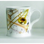 Bone China Mug Trombone Design