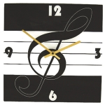 Clock Treble Clef Square