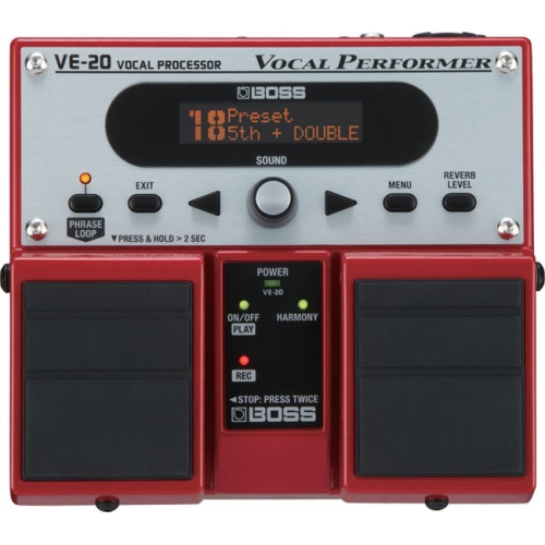boss ve 20 vocal twin pedal harmonizer from the music cellar. Black Bedroom Furniture Sets. Home Design Ideas