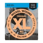 D'addario EXL115W Nickel Wound Electric Guitar Strings 11-49 wound 3rd