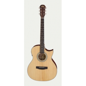Aria 205CE Electro Acoustic Solid Top Cutaway