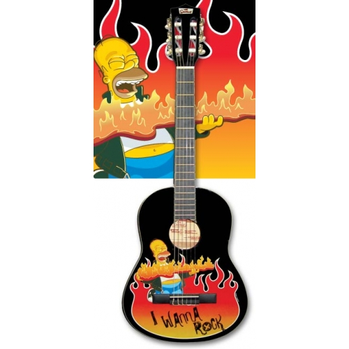 3 4 classical homer simpson design from the music cellar - Guitare simpson ...
