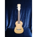 Stagg F hole Concert Uke. Zebrawood with solid Cedar Top UCX-ZEB-S