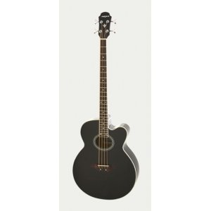 Aria Electro Acoustic Bass Guitar Black From The Music Cellar