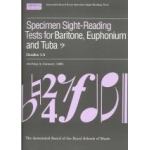 ABRSM Specimen Sight Reading Bar/eup/tub 1-5 Bass Cleff