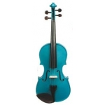 Harlequin Violin Outfit Inc Case & Bow Marine Blue 1/2