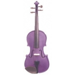 Harlequin Violin Outfit Inc Case & Bow Deep Purple 1/2