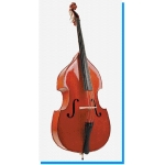 Stentor Student I Double Bass Outfit Inc Case & Bow Flat Back Solid Top 1/2