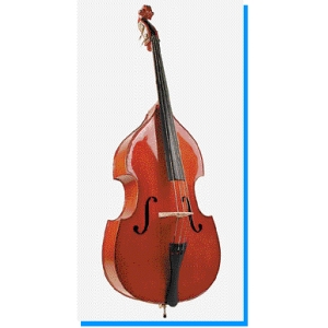Stentor Student I Double Bass Outfit Inc Case & Bow Flat Back Solid Top 1/4