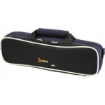 Tom And Will 33FG Flute Gig Case Black With Navy Trim With Grey And Navy Piping