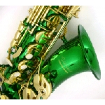 Elkhart Alto Saxophone with green lacquer