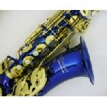 Elkhart Alto Saxophone with blue lacquer